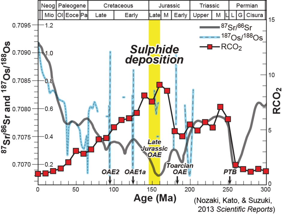Global geochemical cycles, environments, and mineral resources